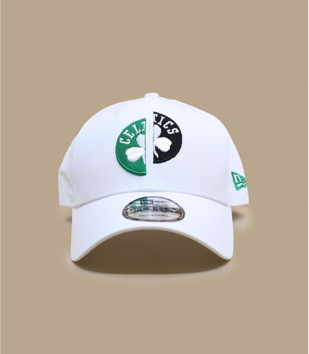 white Celtics cap