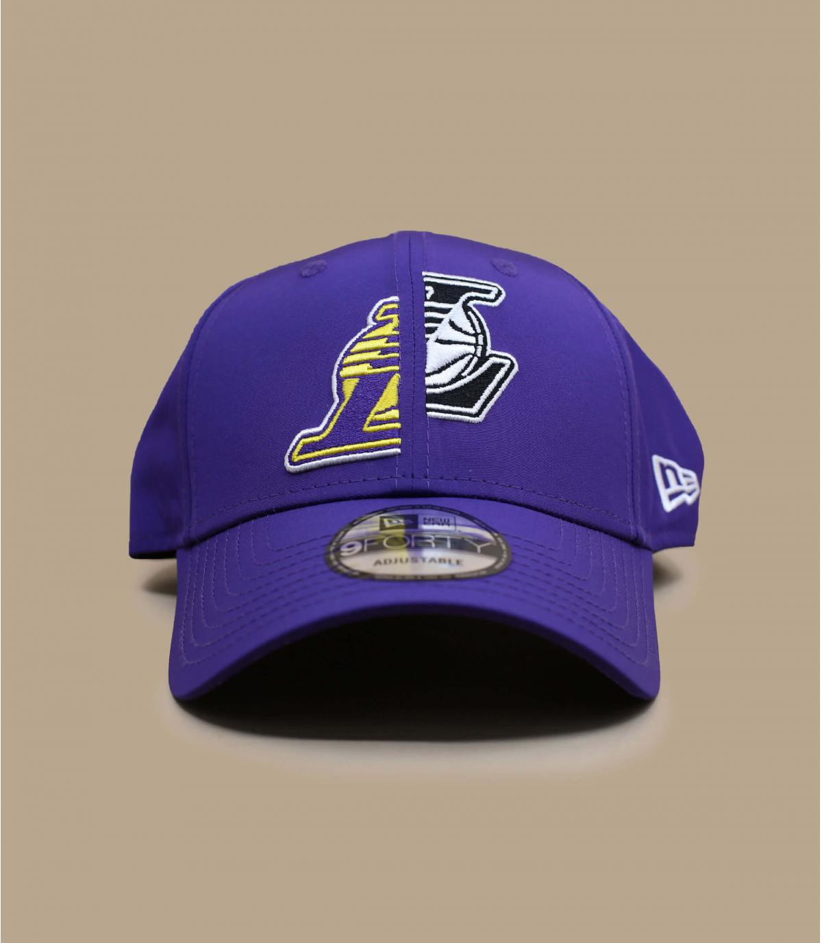 Purple Lakers cap