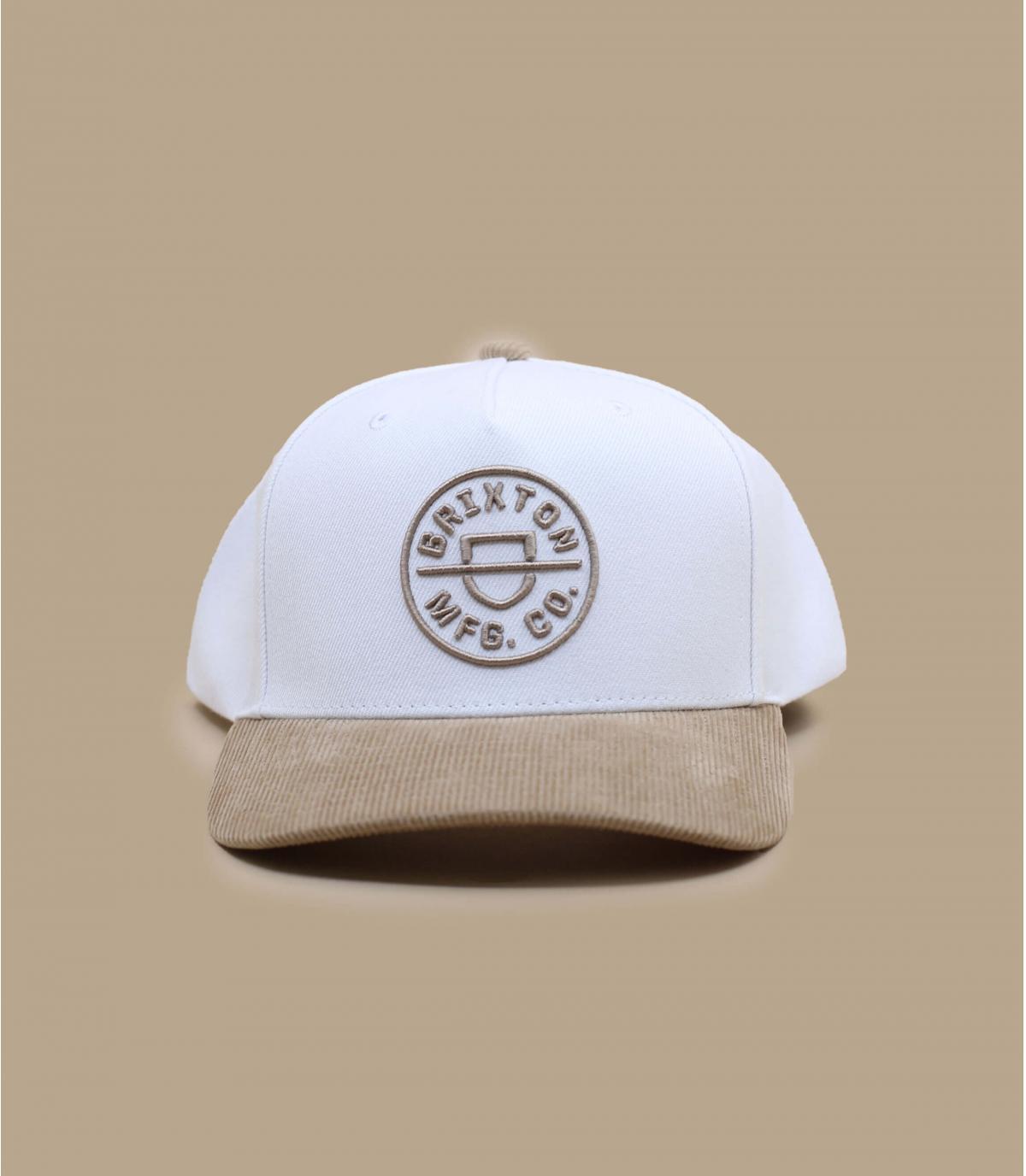 Brixton beige white cap