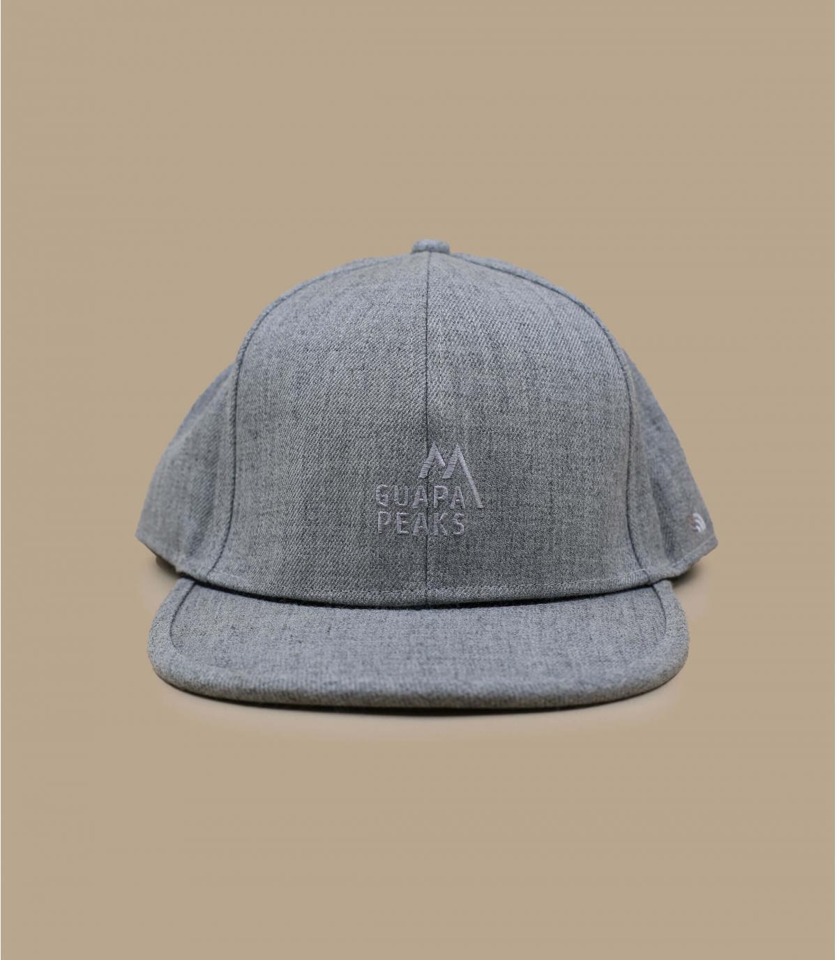 Heather grey Guapa Peaks cap