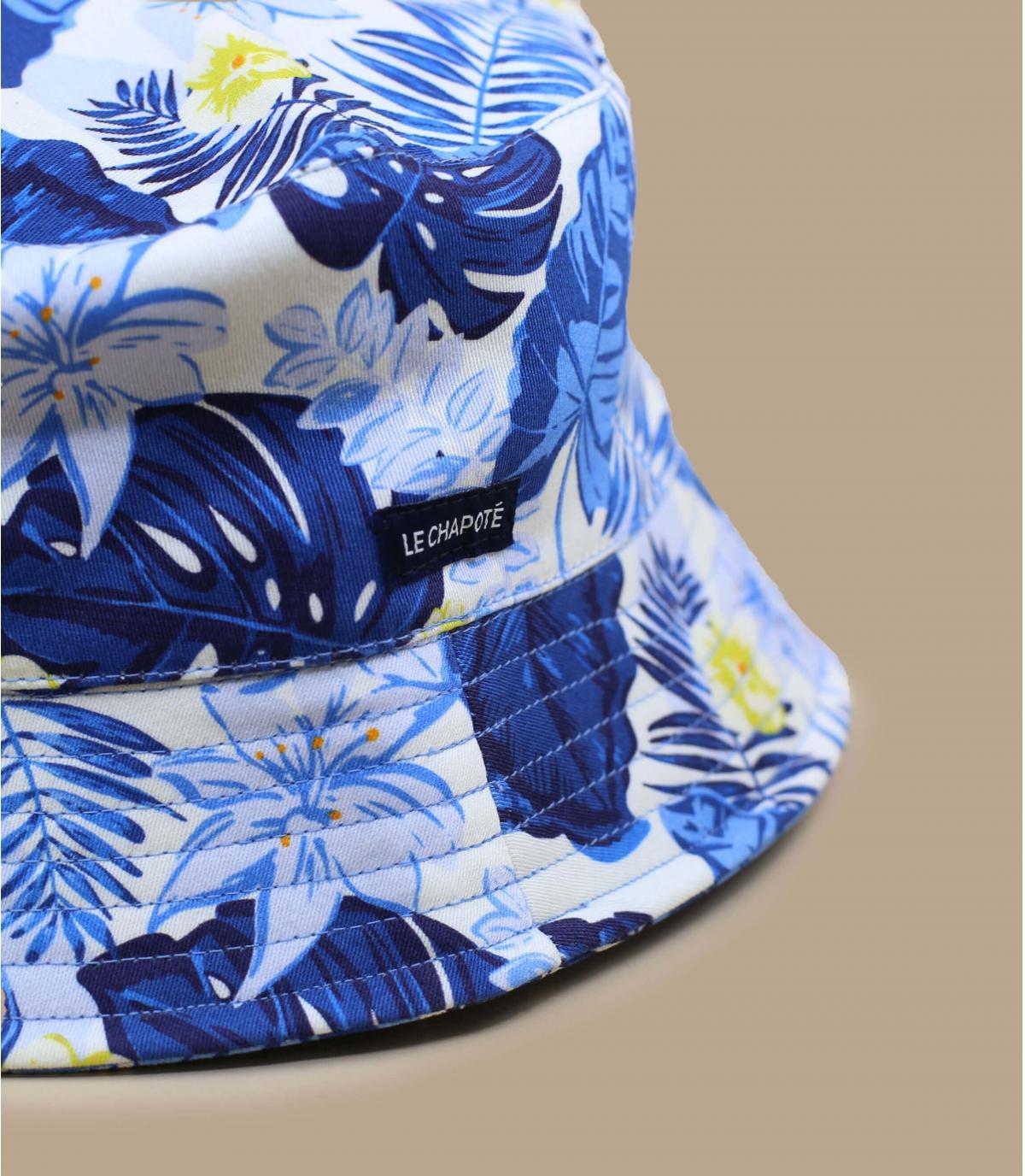 blue jungle bucket hat