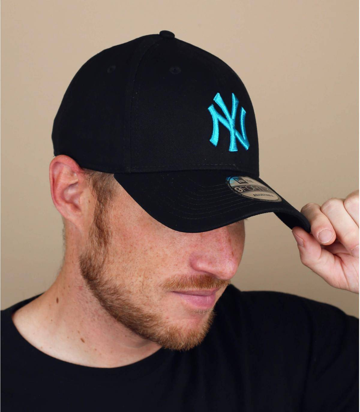 black blue NY cap
