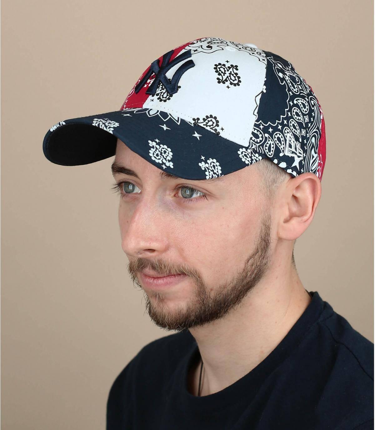 blue bandana NY cap