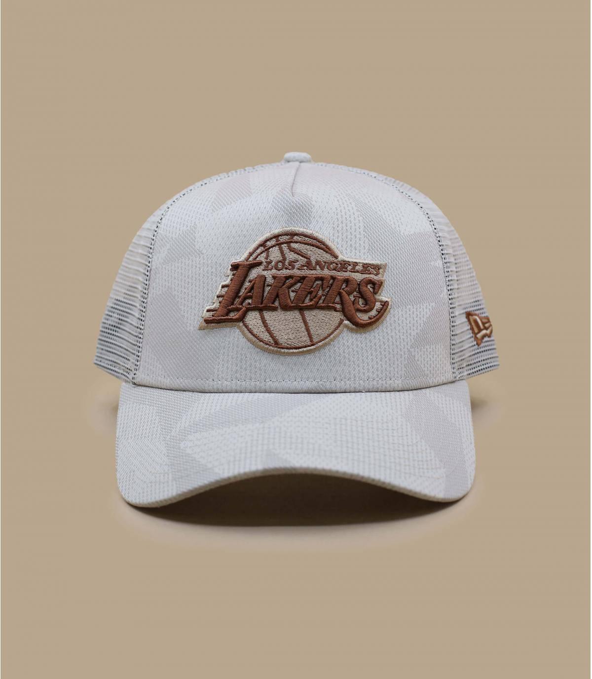 beige Lakers cap