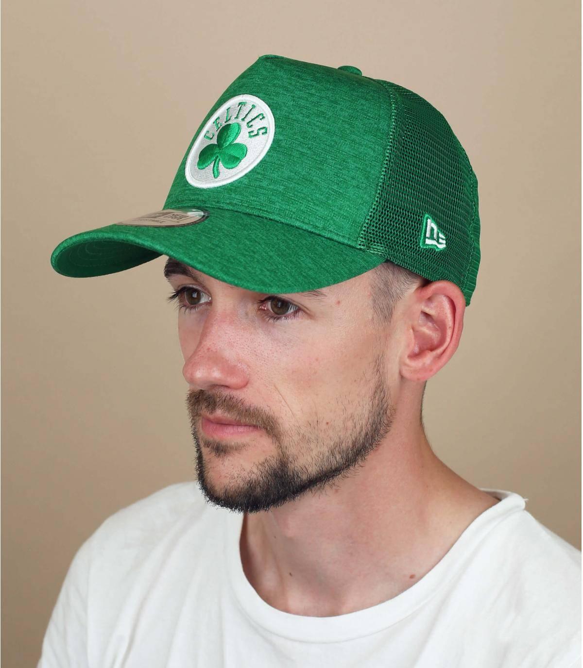 green Celtics trucker