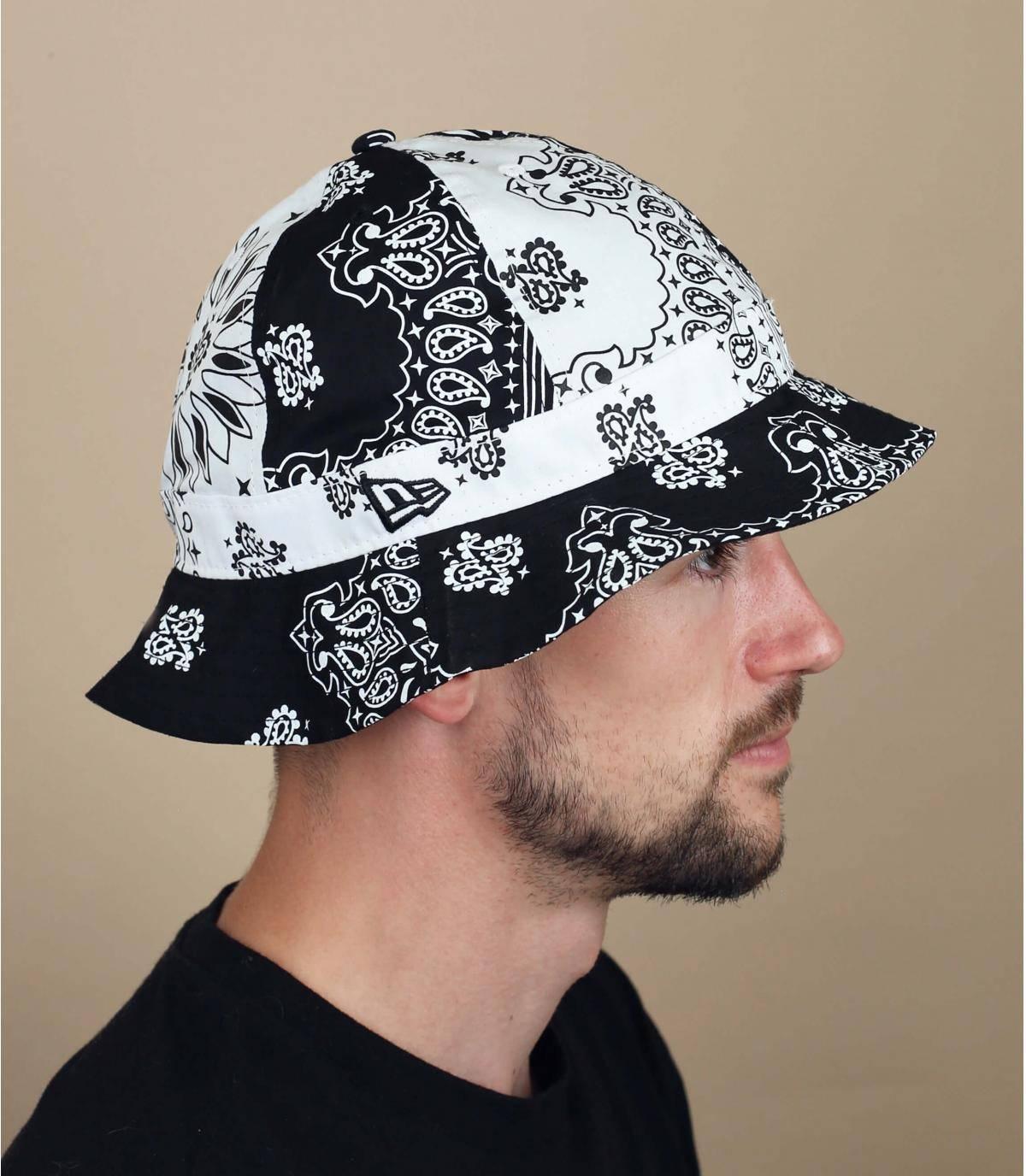 black bandana bucket hat