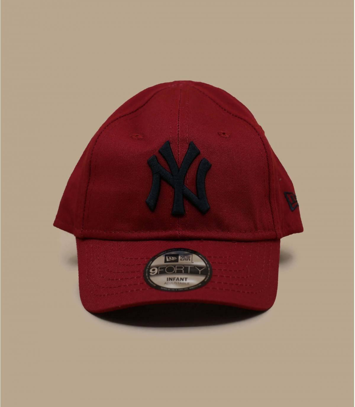 Red baby NY cap