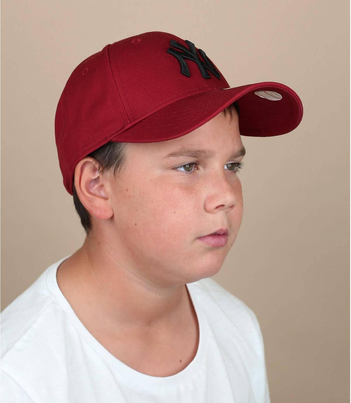 red NY child cap