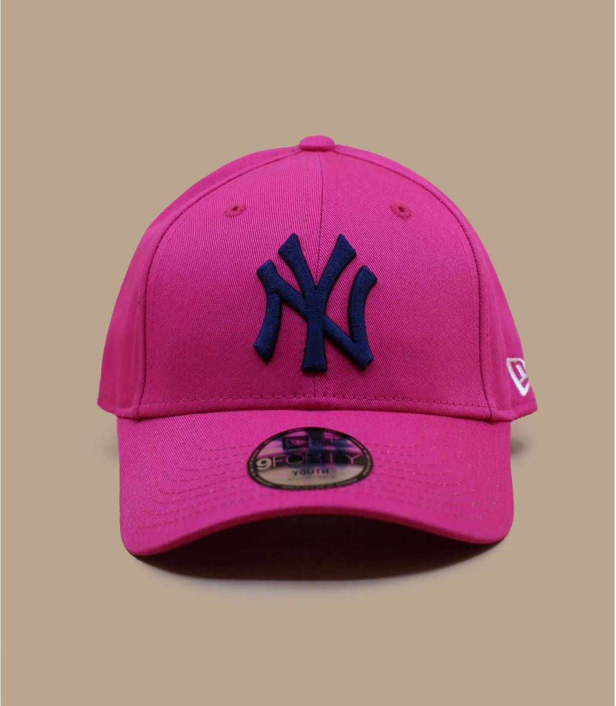 kids pink NY cap