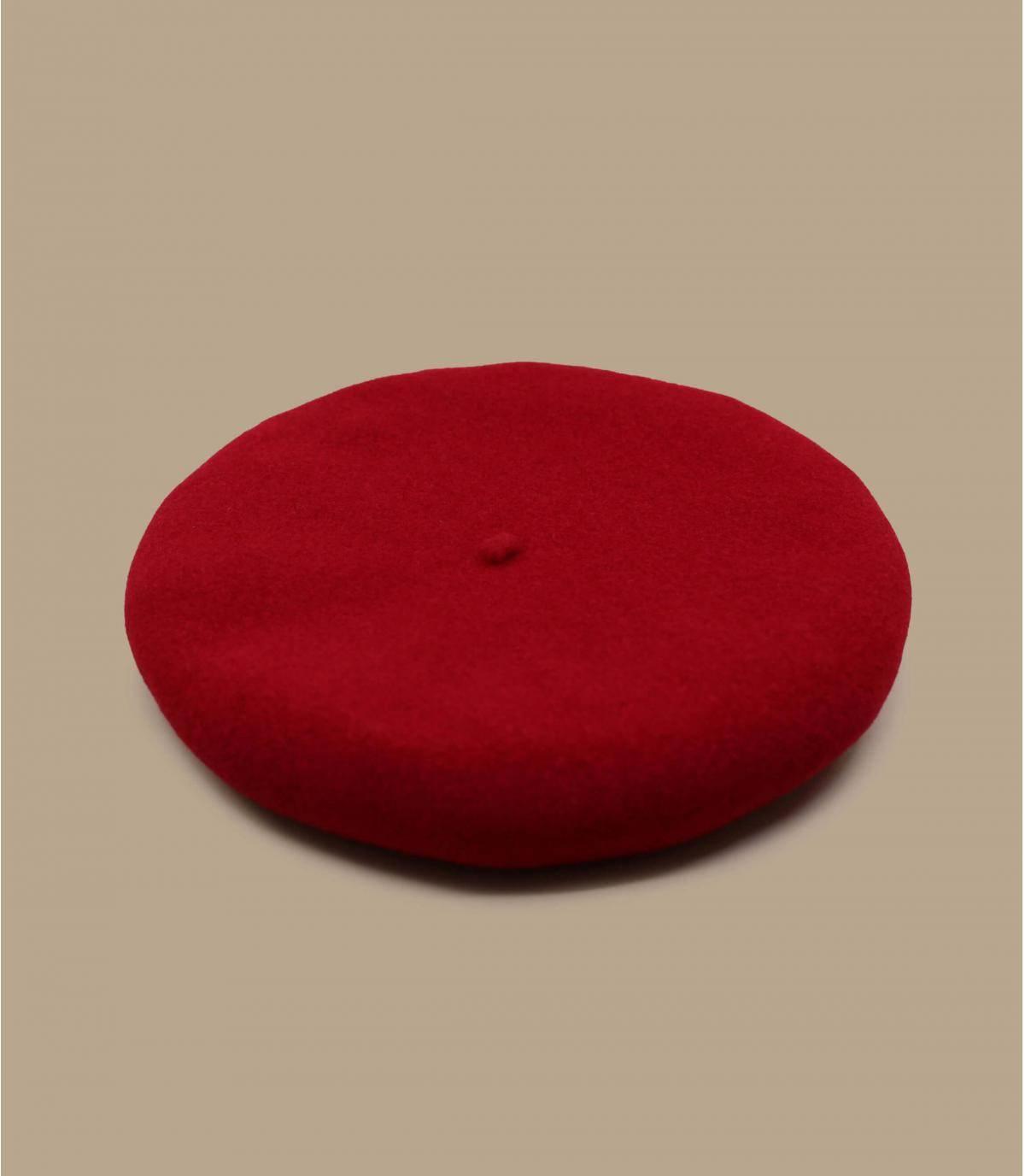 red wool cap