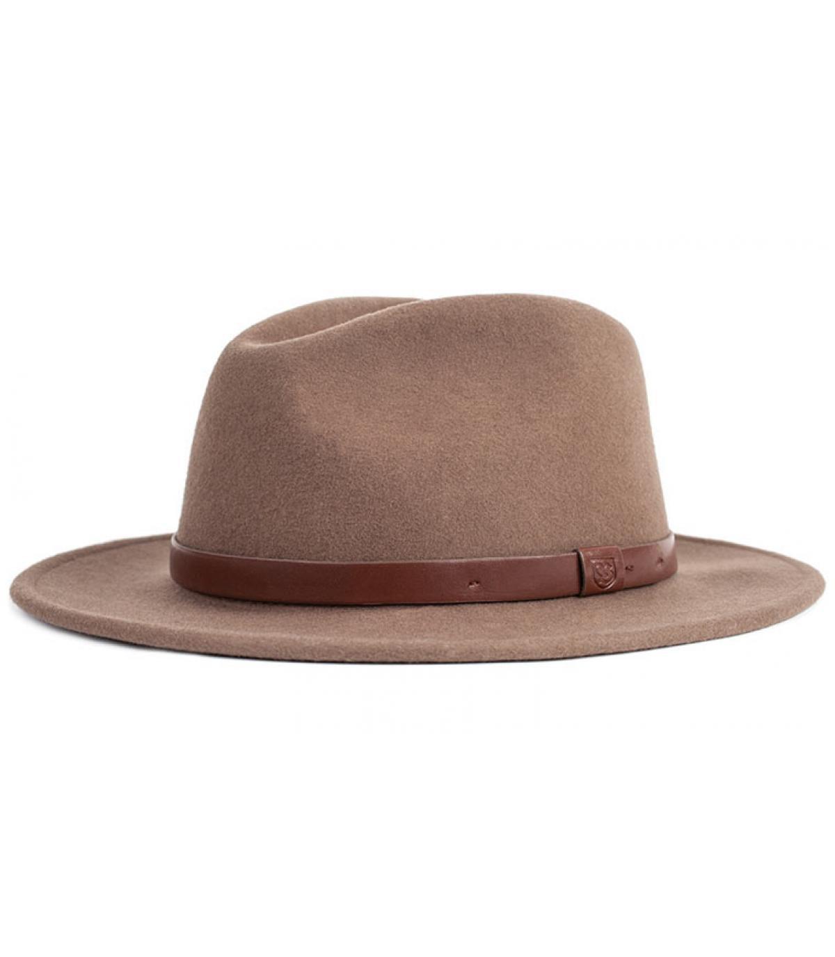 Camel men fedora hat - Messer fedora camel by Brixton. b55923598a9
