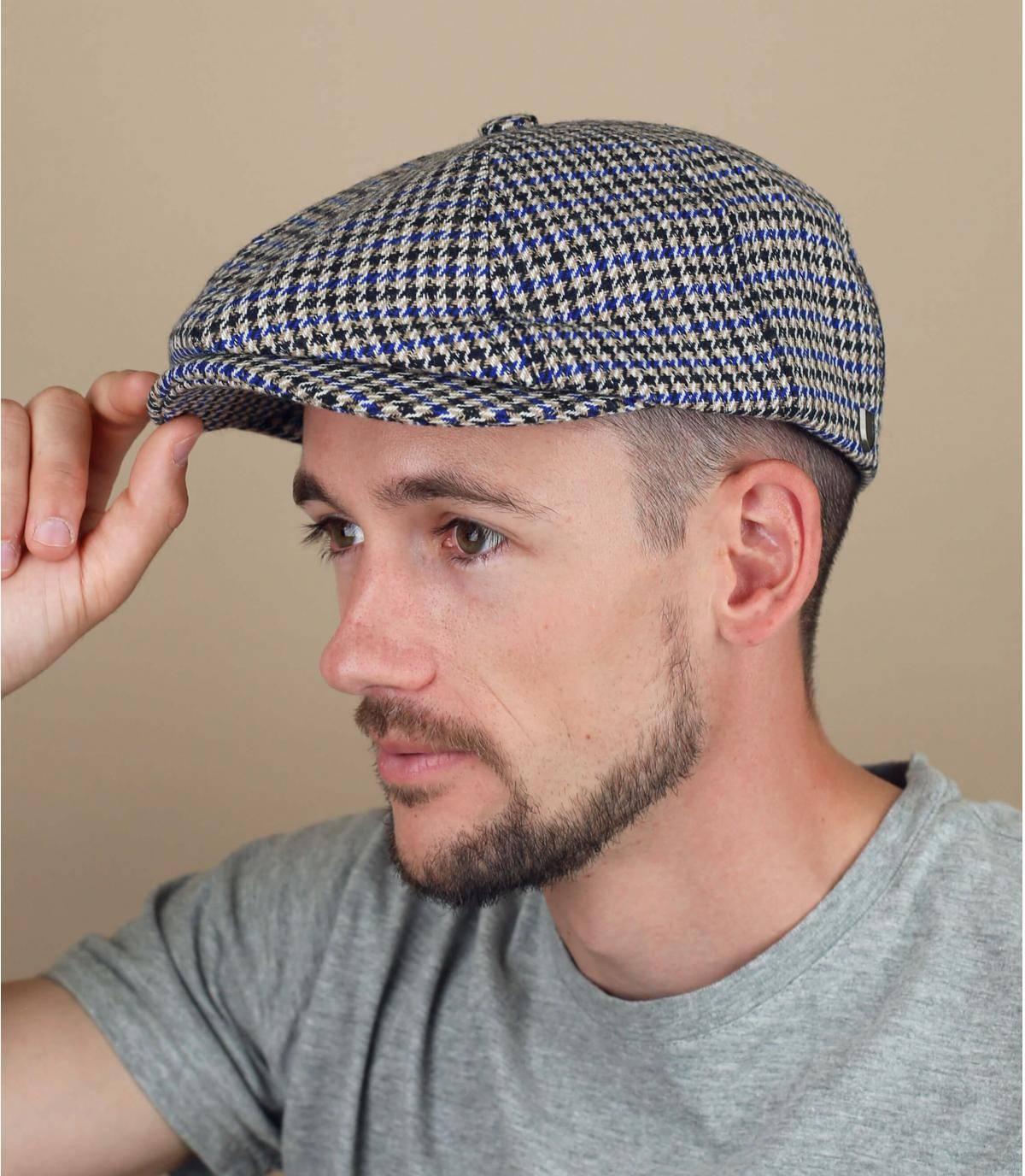 houndstooth newsboy cap