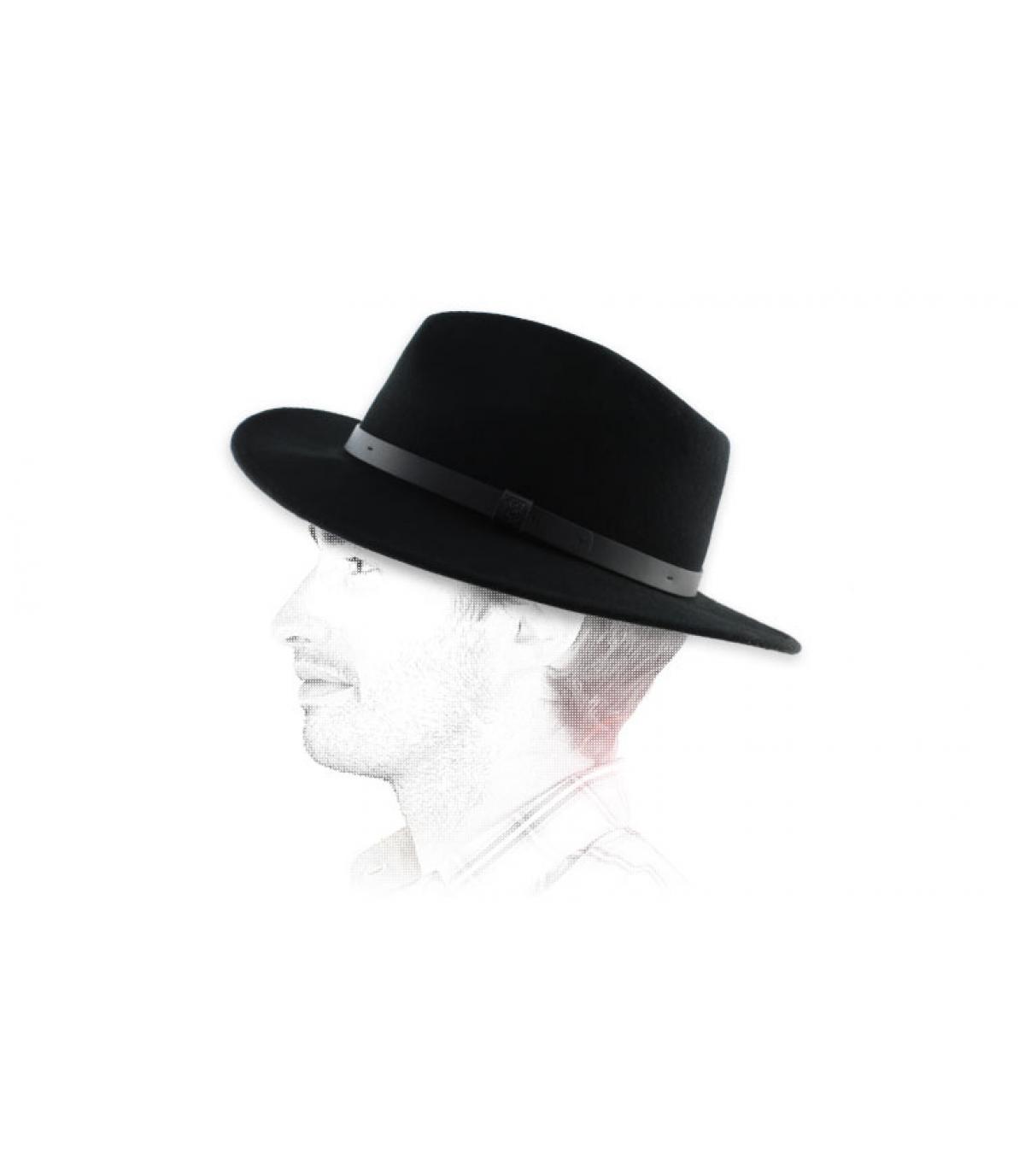 Black men fedora hat