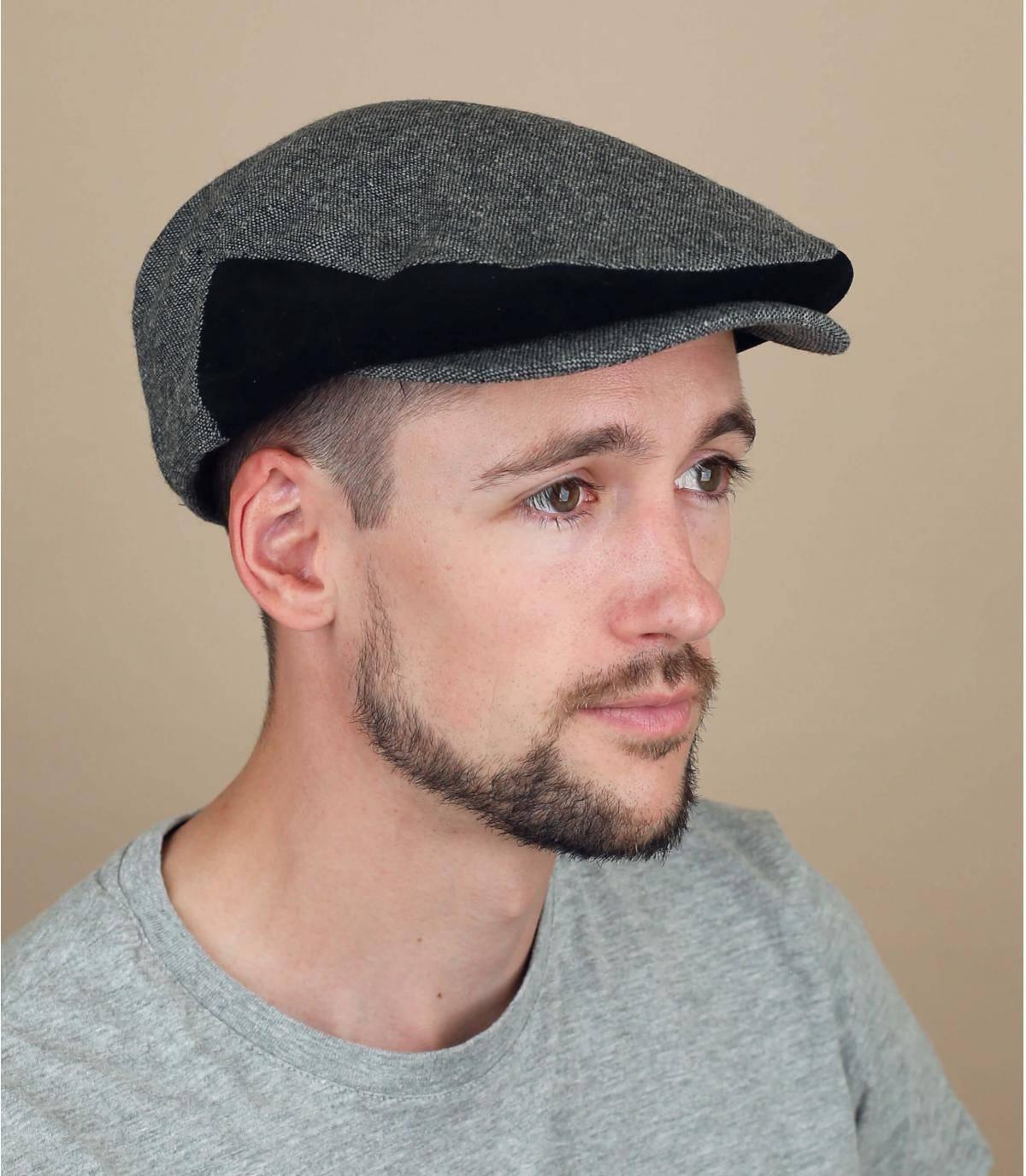 black flat cap Brixton