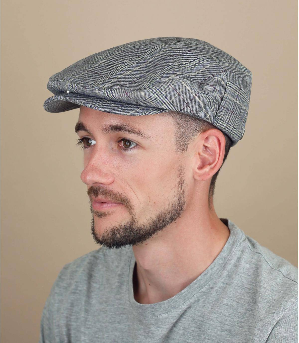 blue plaid cap