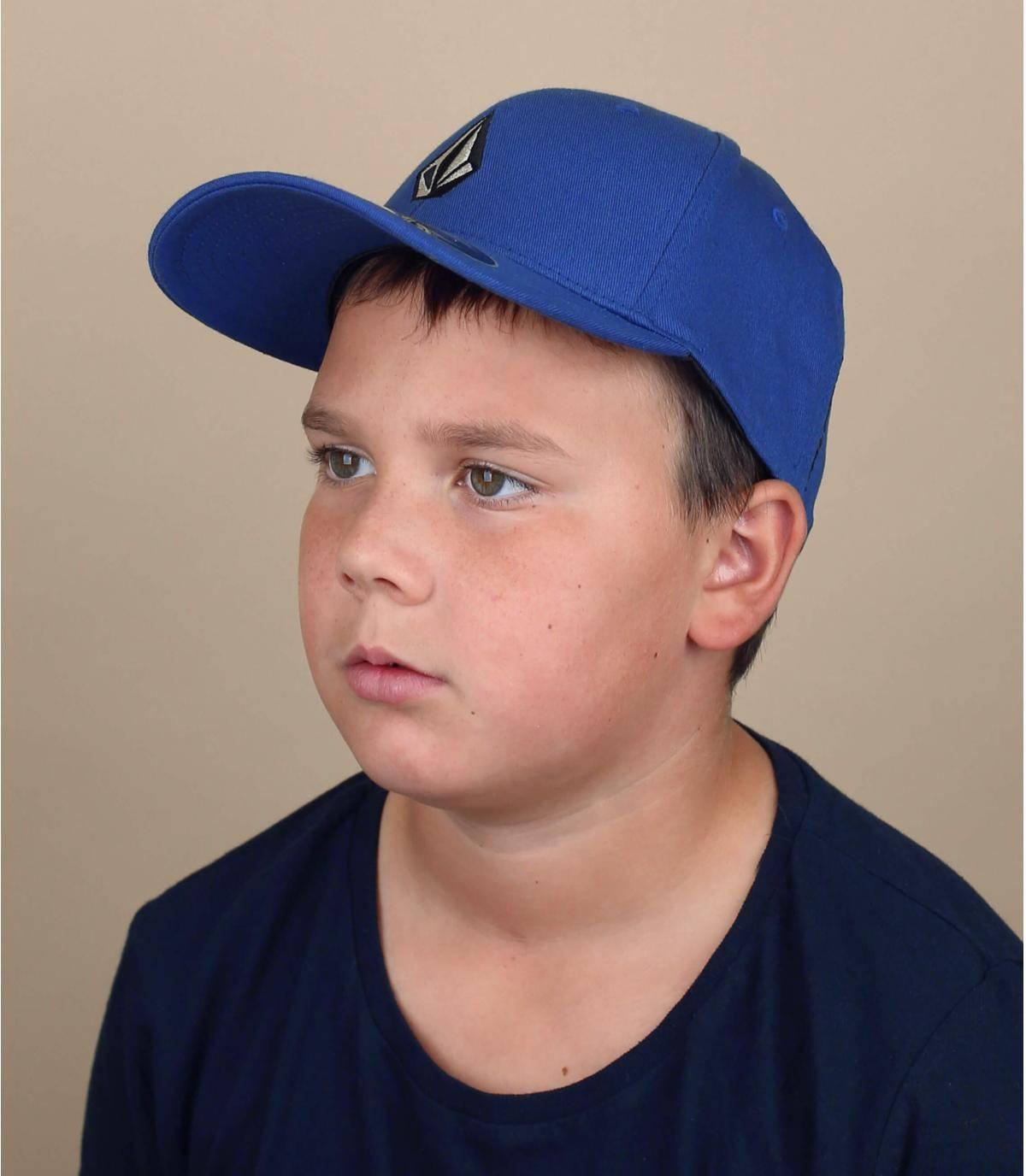 blue Volcom children cap