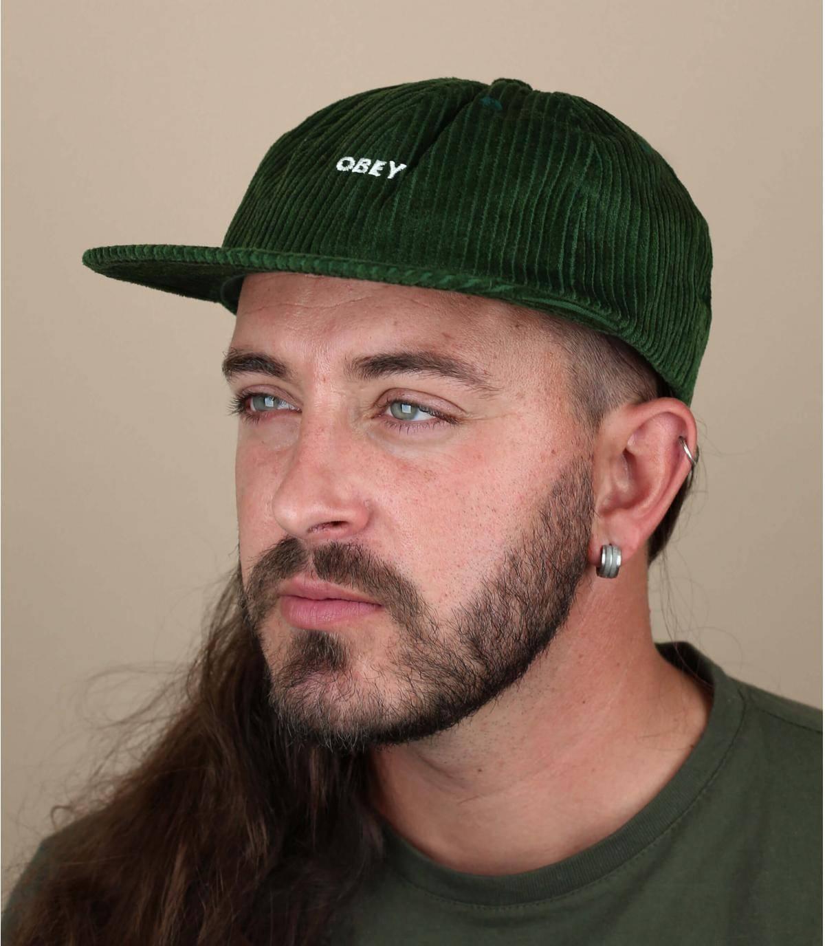 green corduroy cap Obey