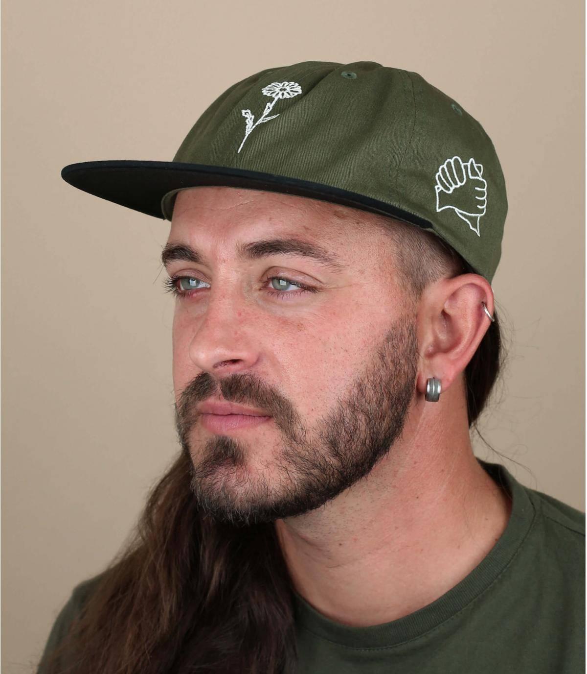 Green cap Obey