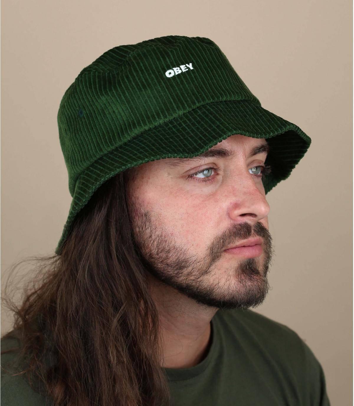green bucket hat Obey