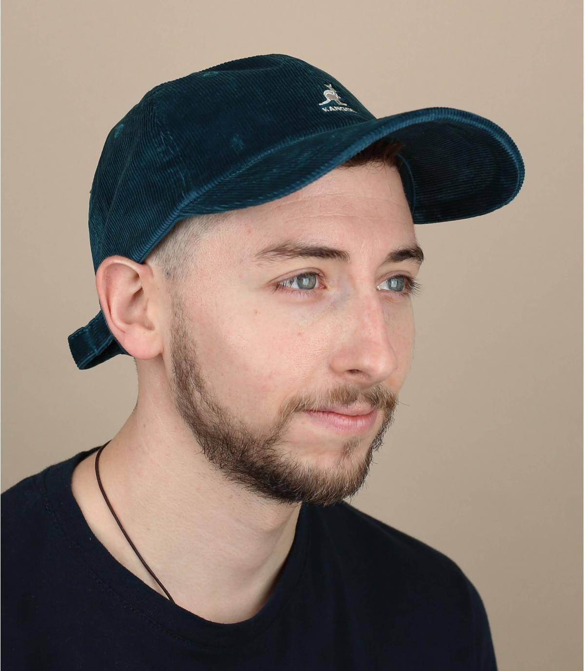 blue corduroy cap