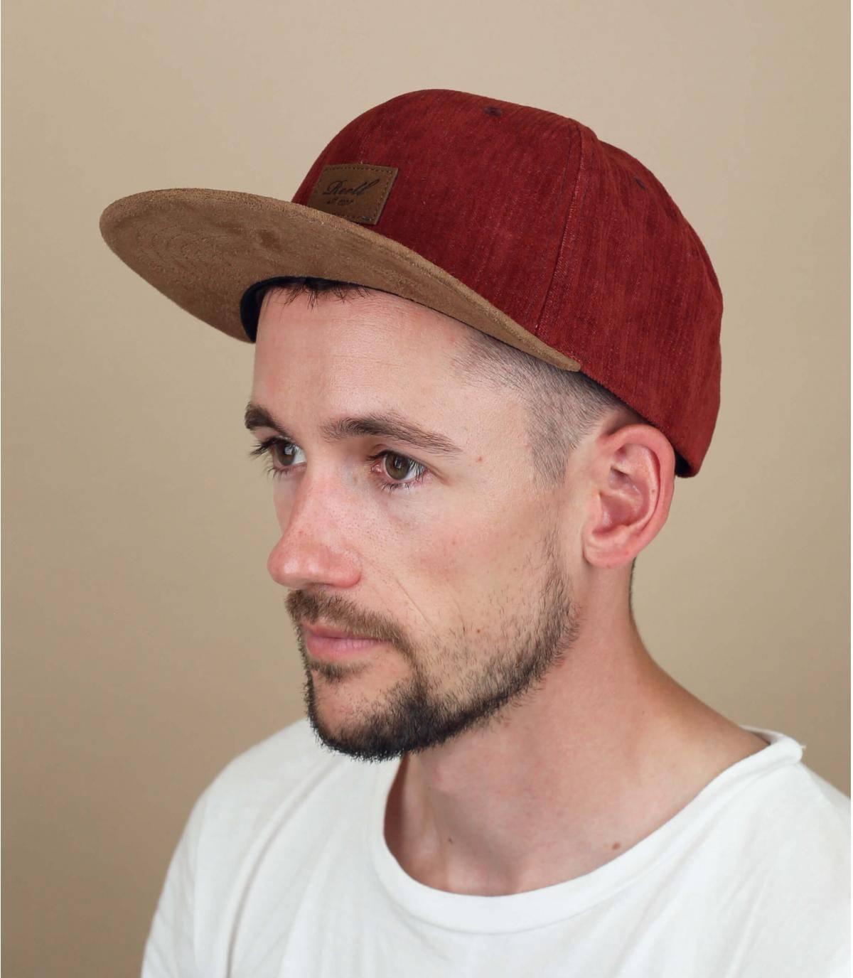 burgundy Reell cap