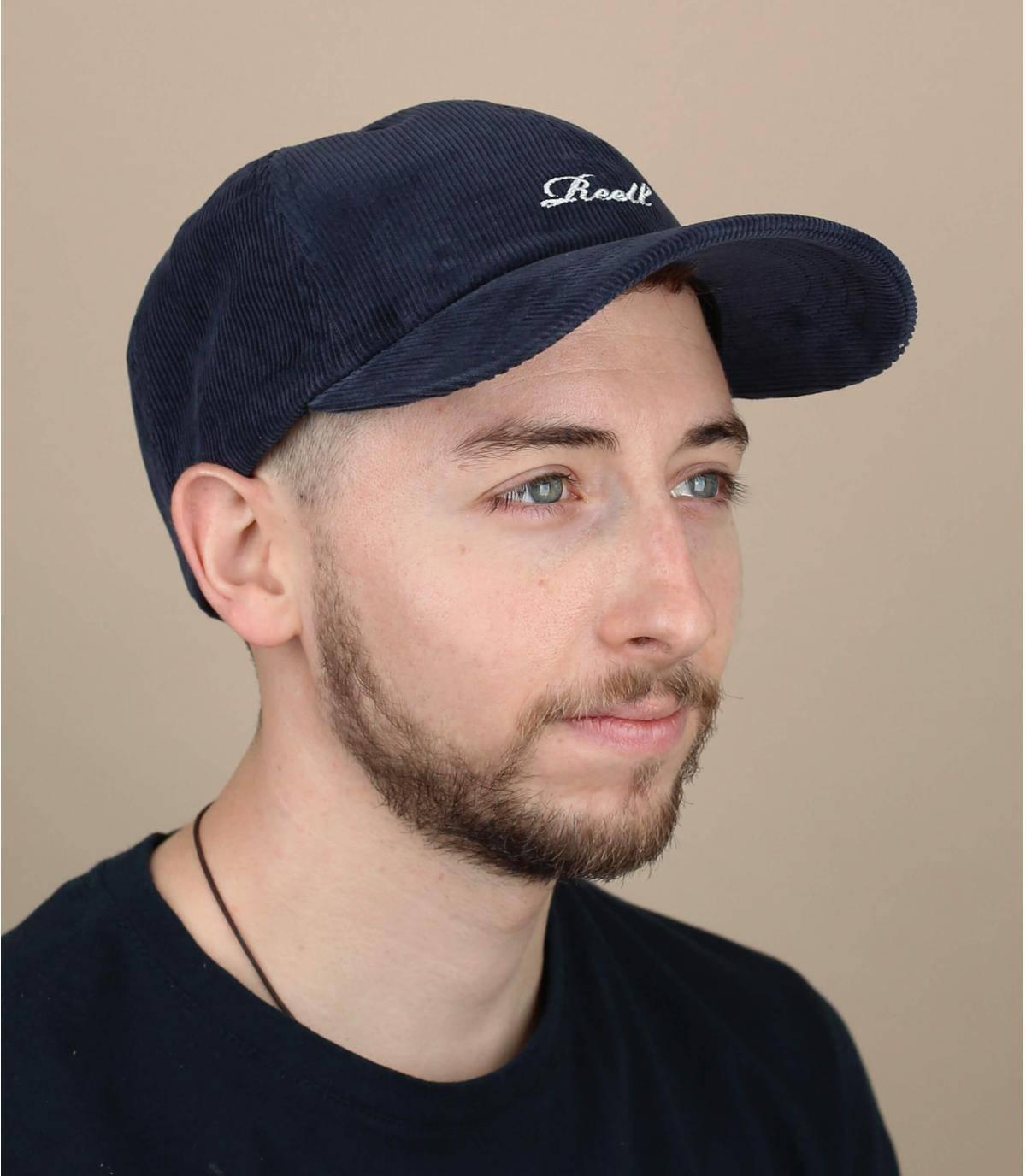 blue corduroy Reell cap