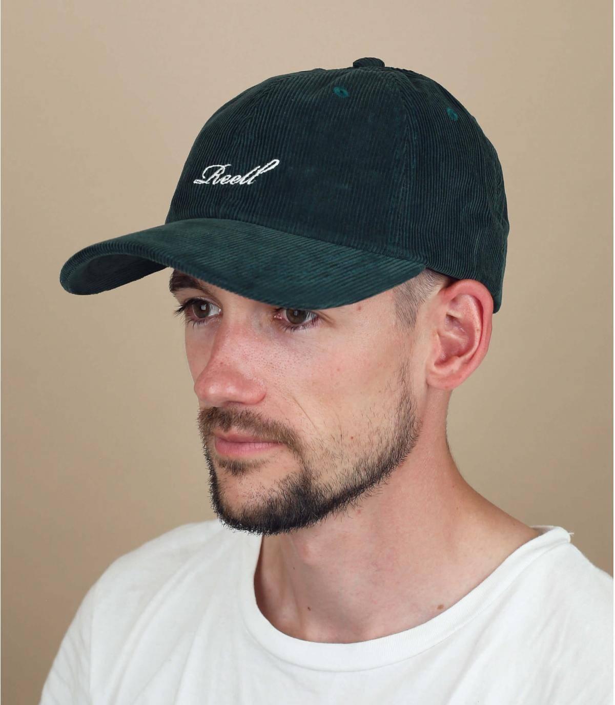 green corduroy Reell cap