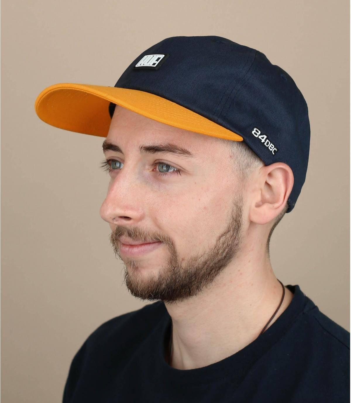 blue yellow Huf cap