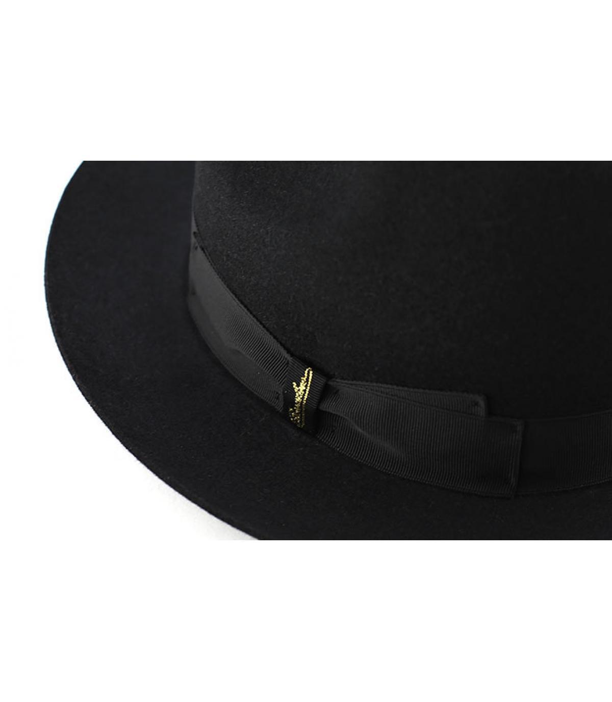 Détails Marengo black fur felt hat - image 2