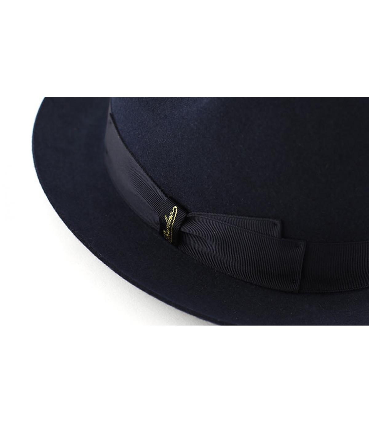 Détails Marengo navy fur felt hat - image 2
