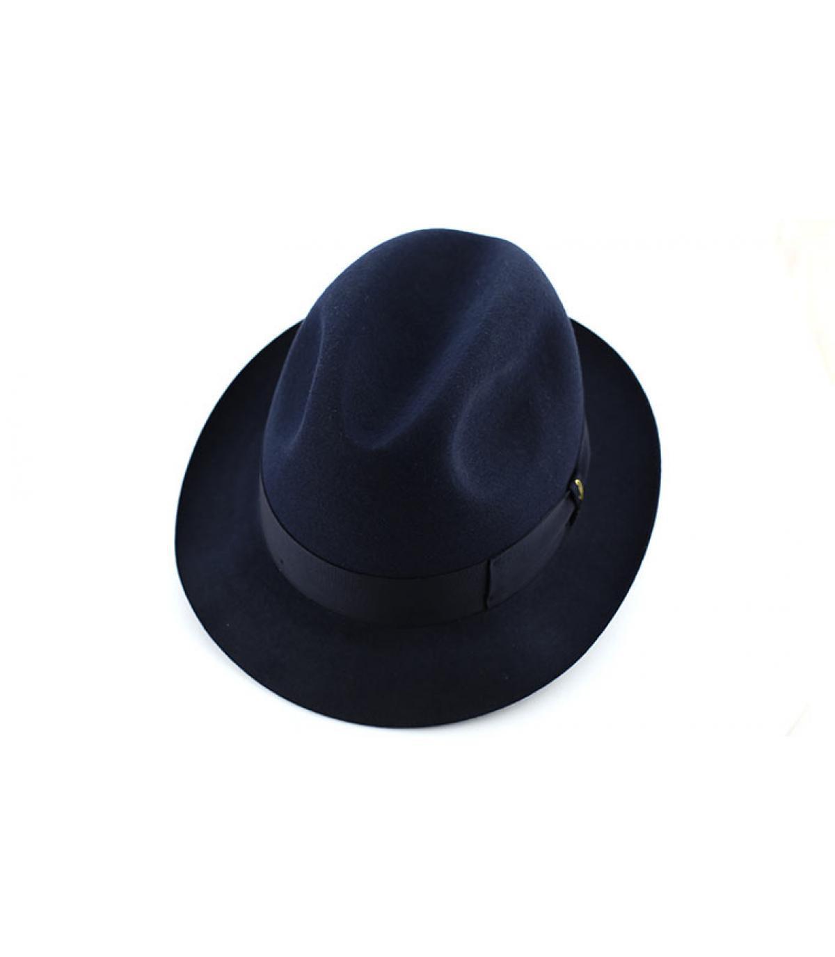 Détails Marengo navy fur felt hat - image 3