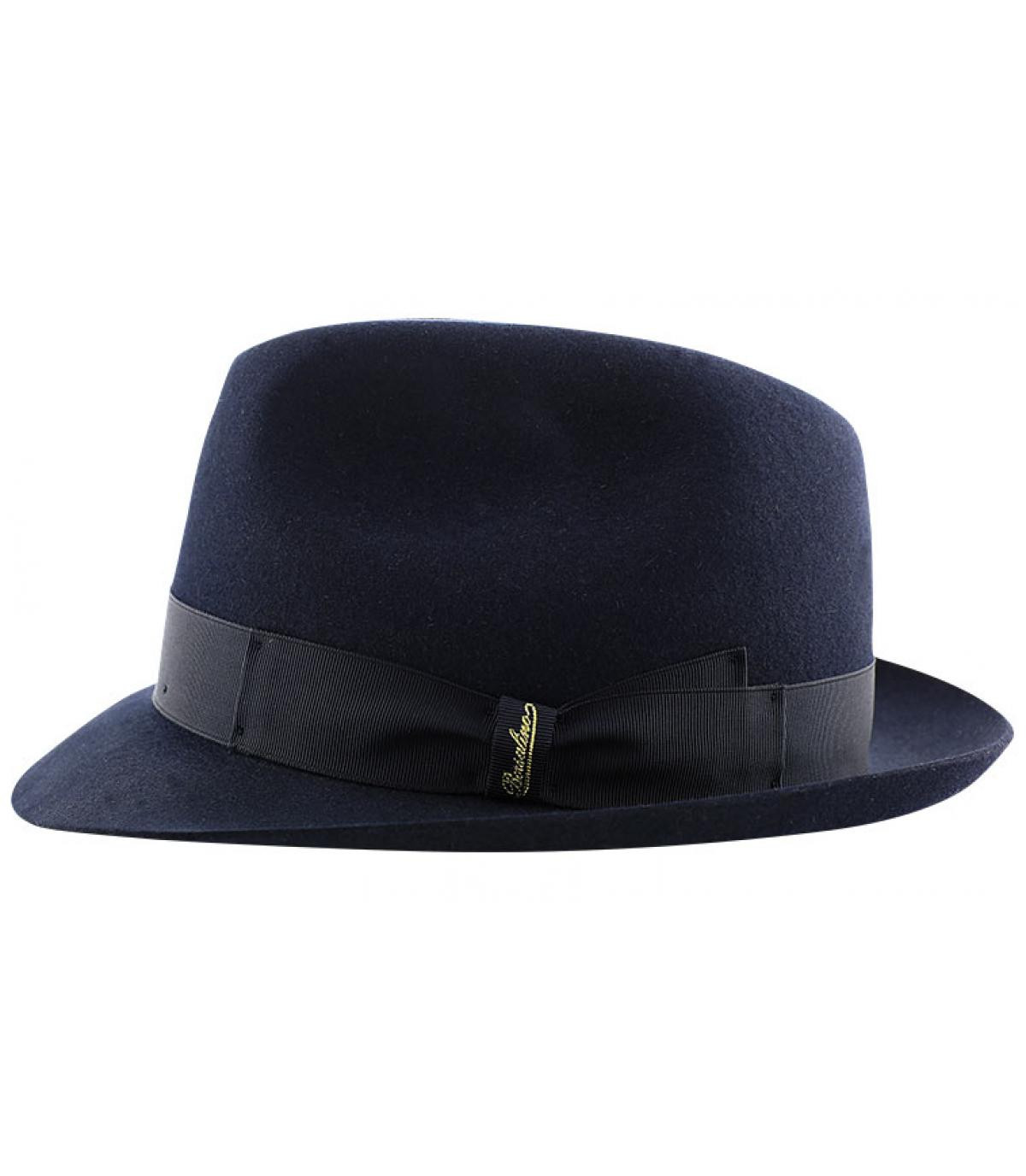 8343f53310c Navy fur felt Borsalino hat. Détails Marengo navy fur felt hat - image 4 ...