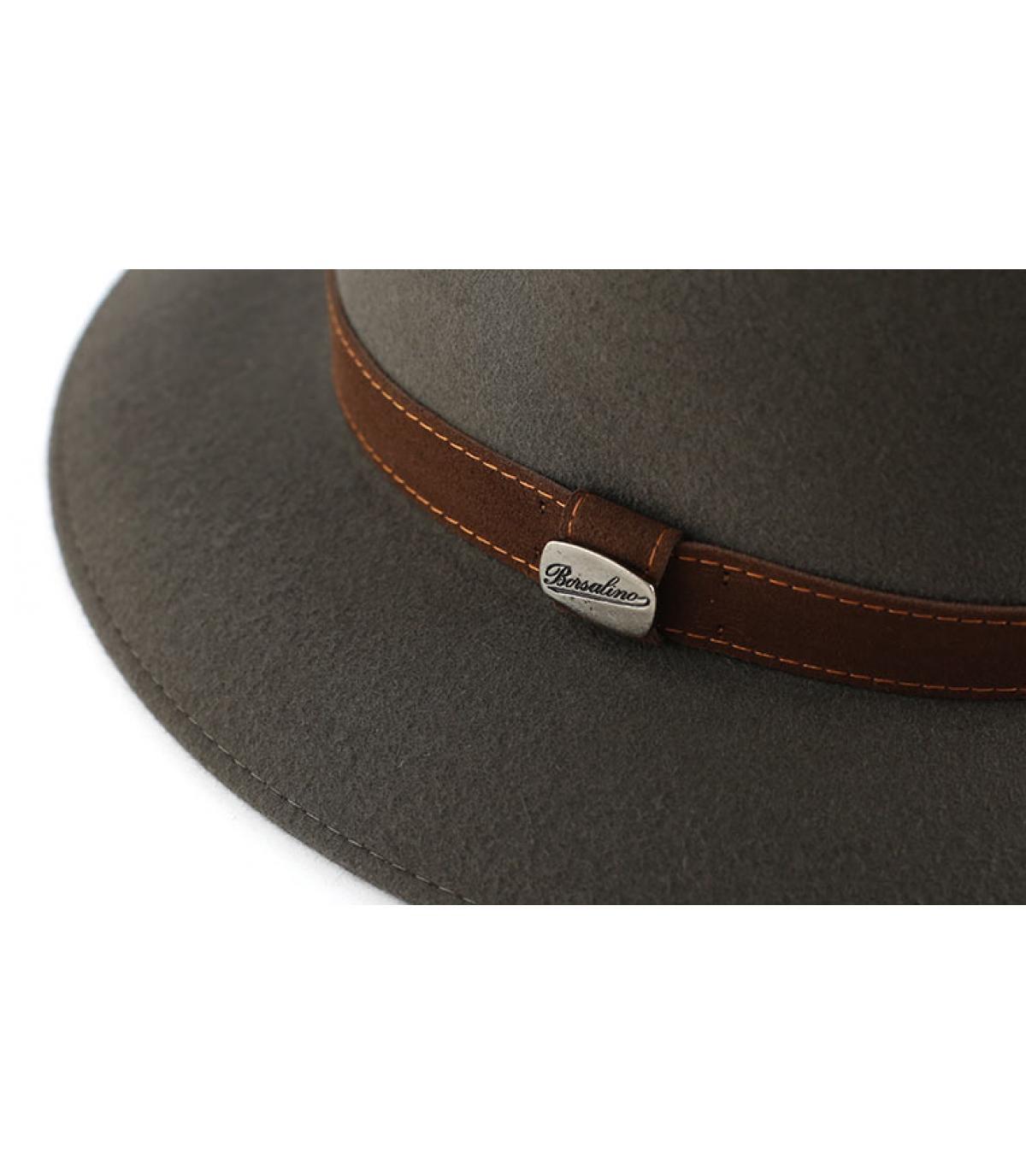 Grey fur felt Borsalino hat