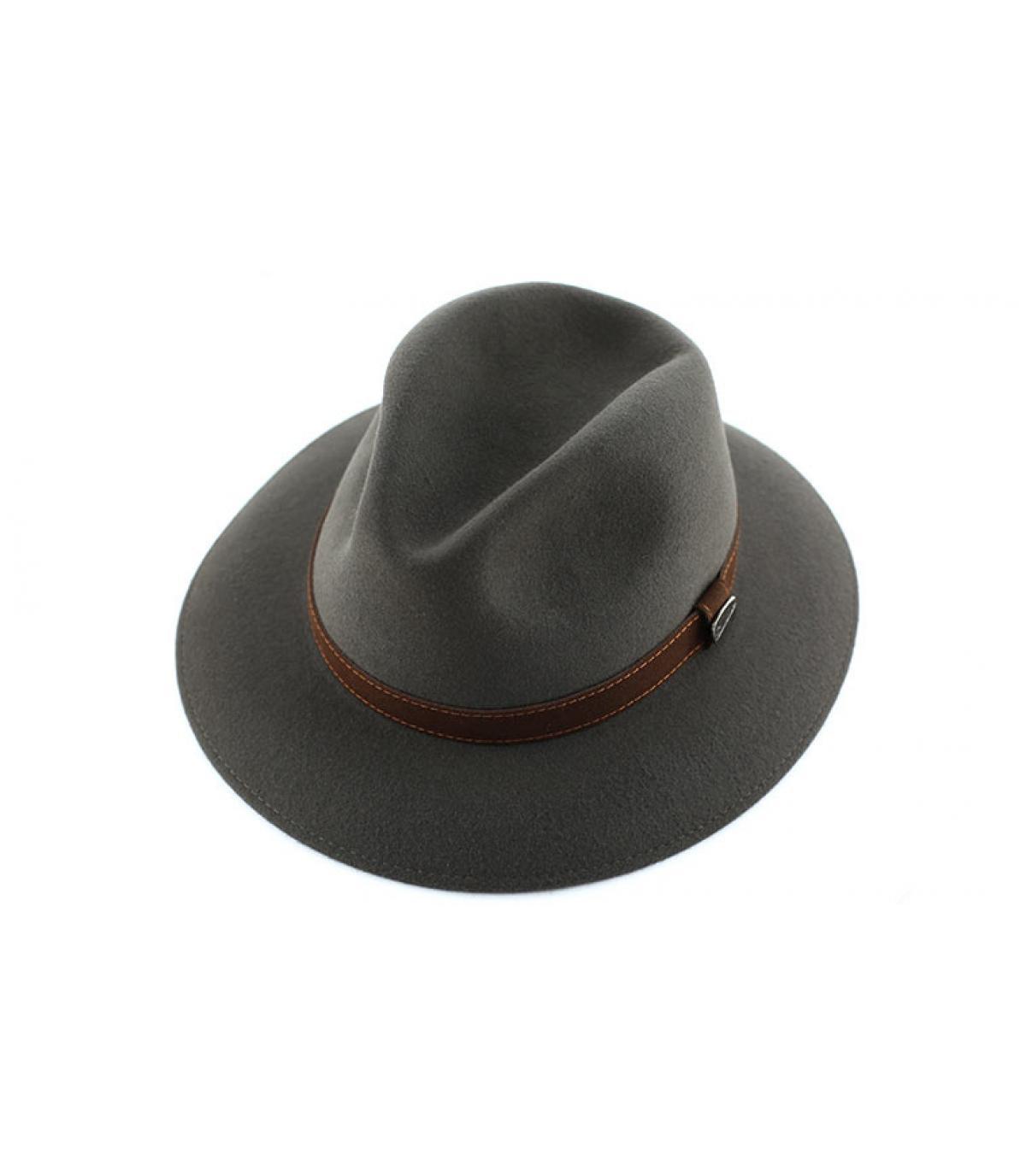 Détails Alessandria grey fur felt hat - image 3