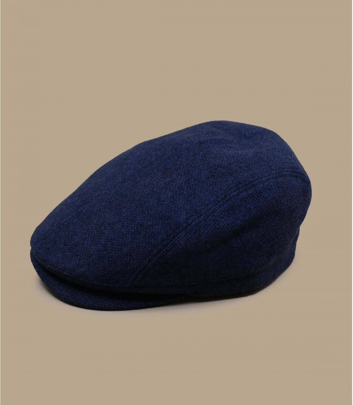 blue flat cap wool