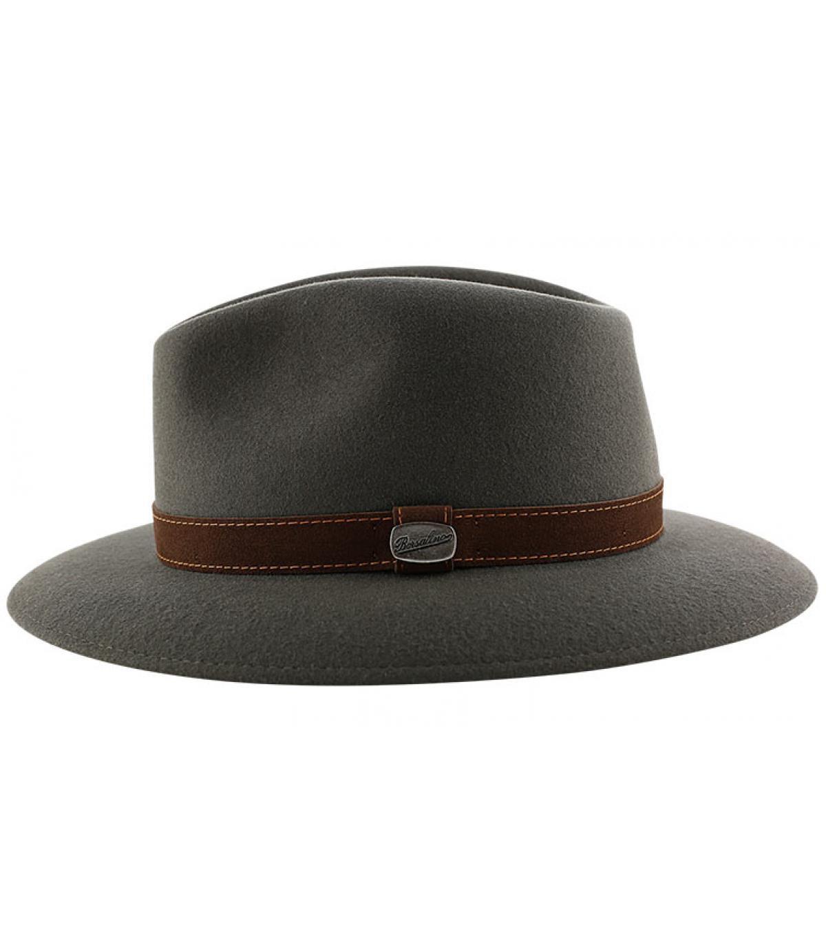 Détails Alessandria grey fur felt hat - image 4