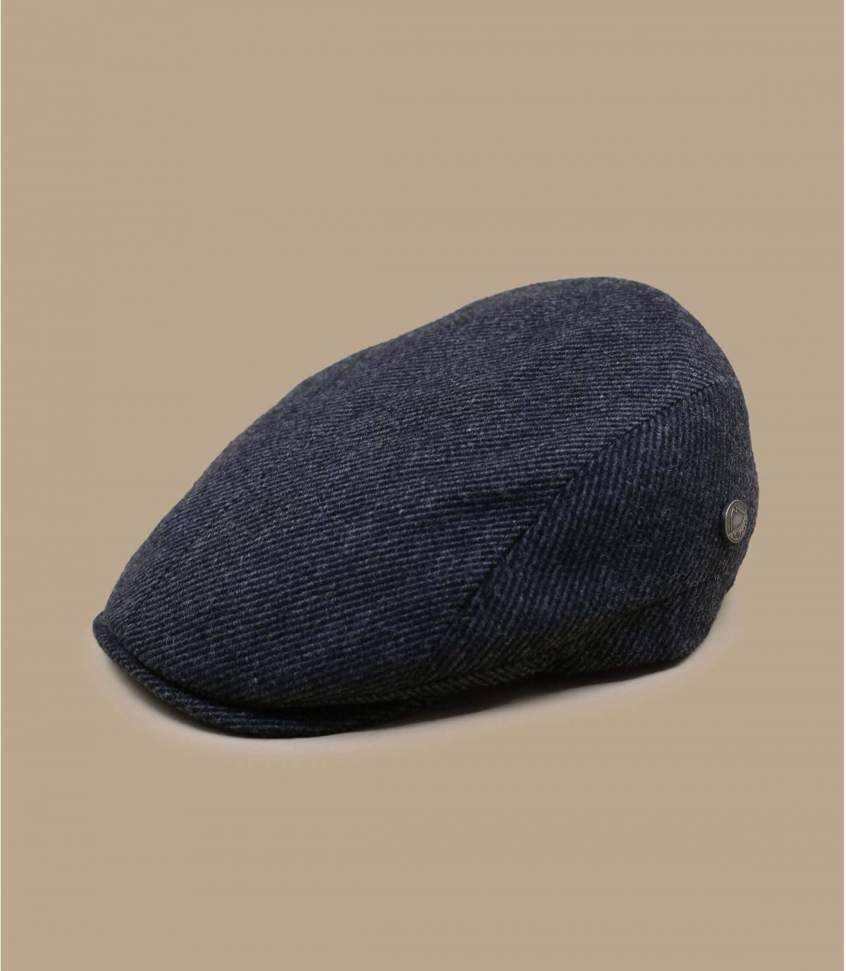 Grey recycled wool cap