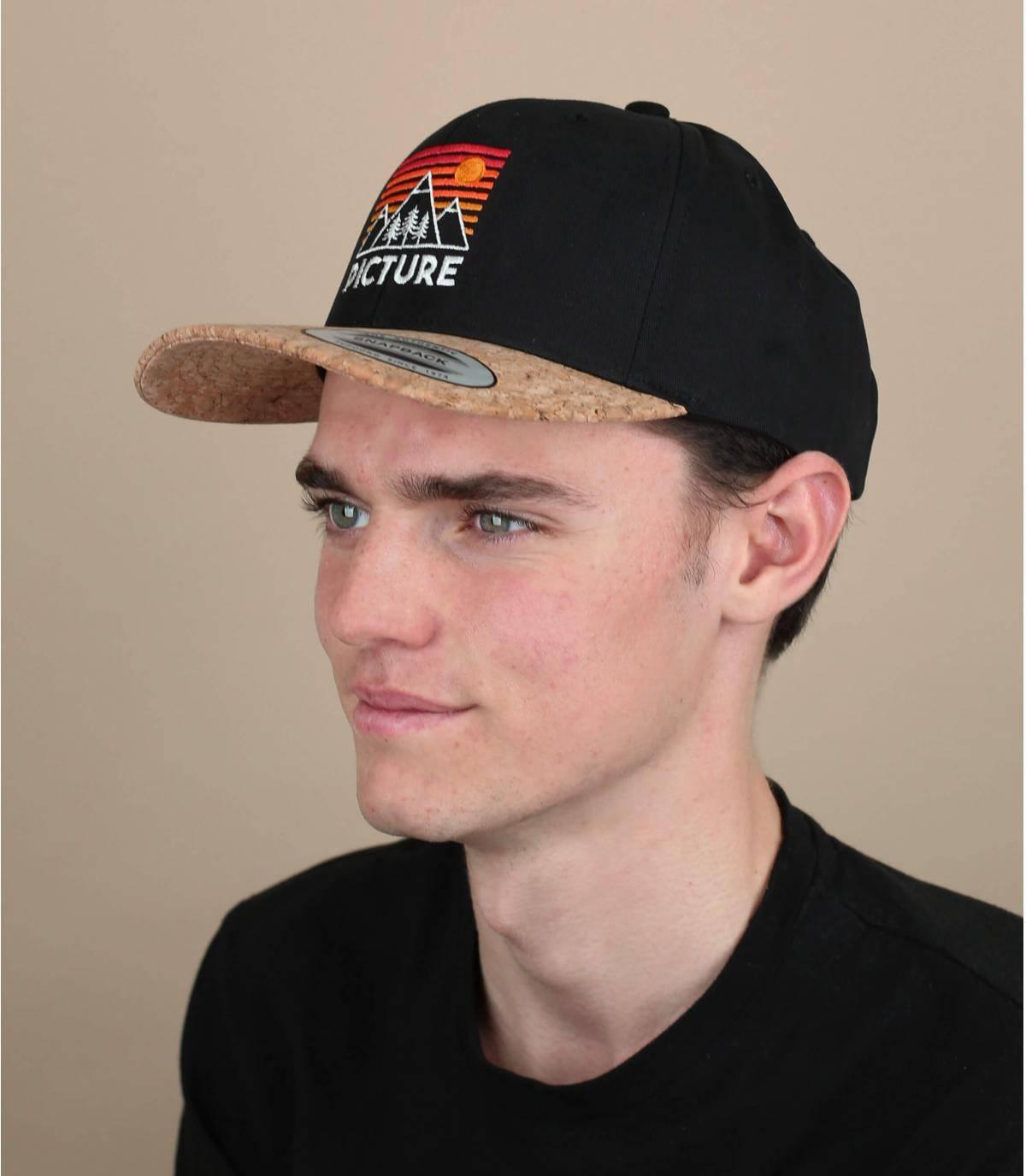 black Picture cap