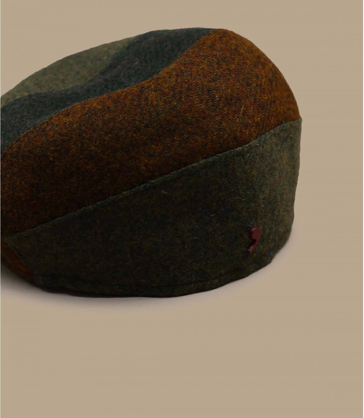multicoloured wool beret