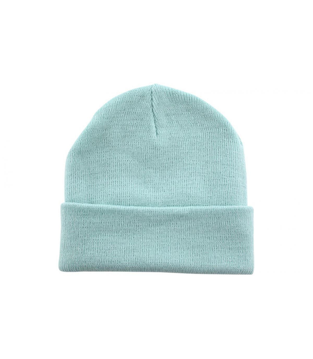 Blue pastel beanie - Bonnet blank ice blue. f47e0e7b57e