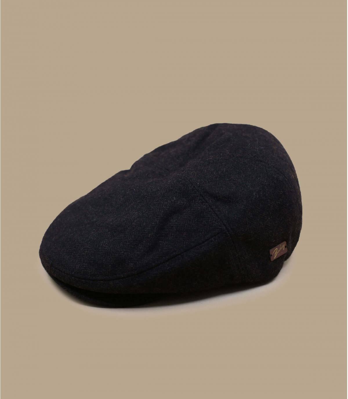 Brown herringbone cap