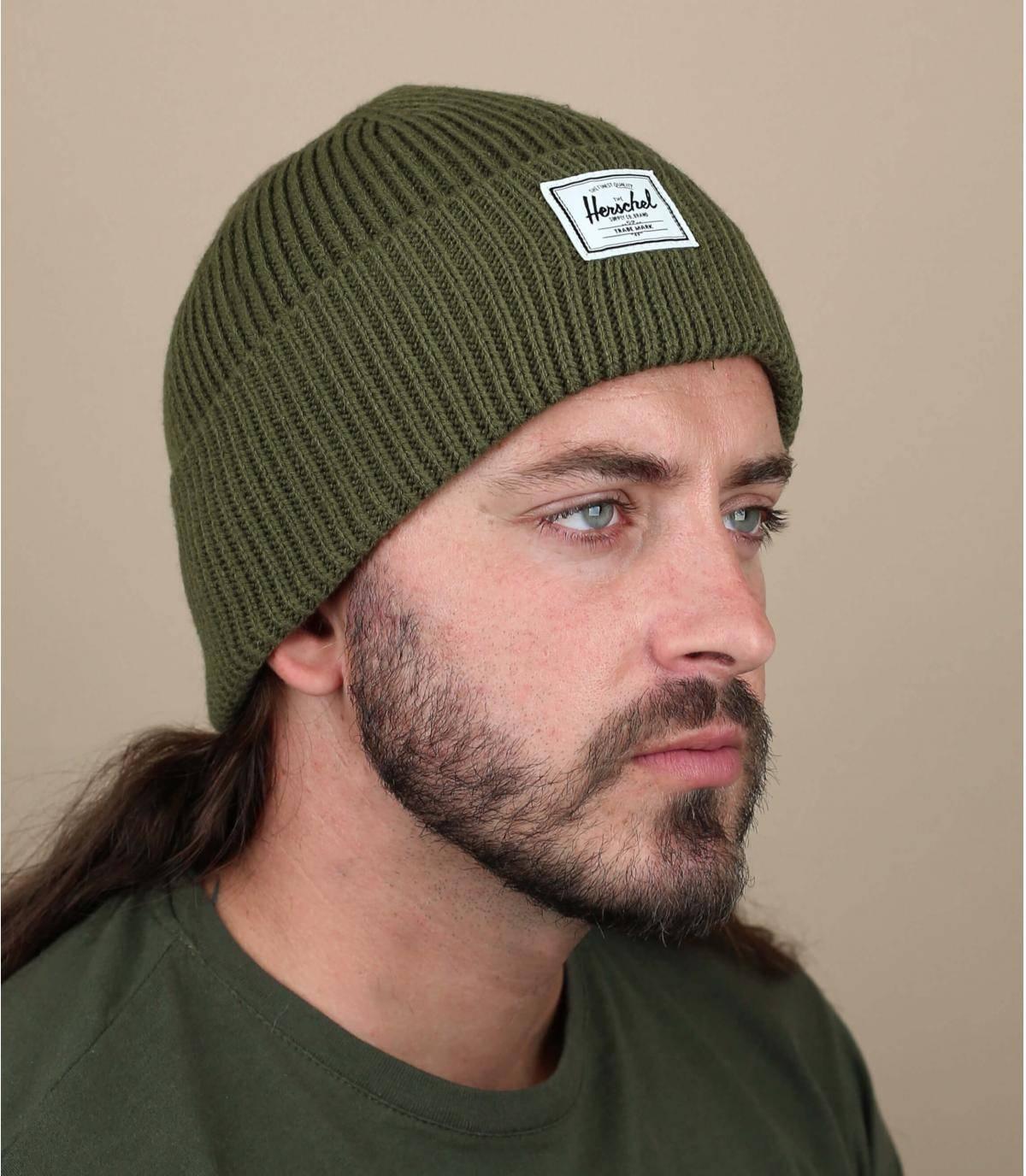 Green docker beanie
