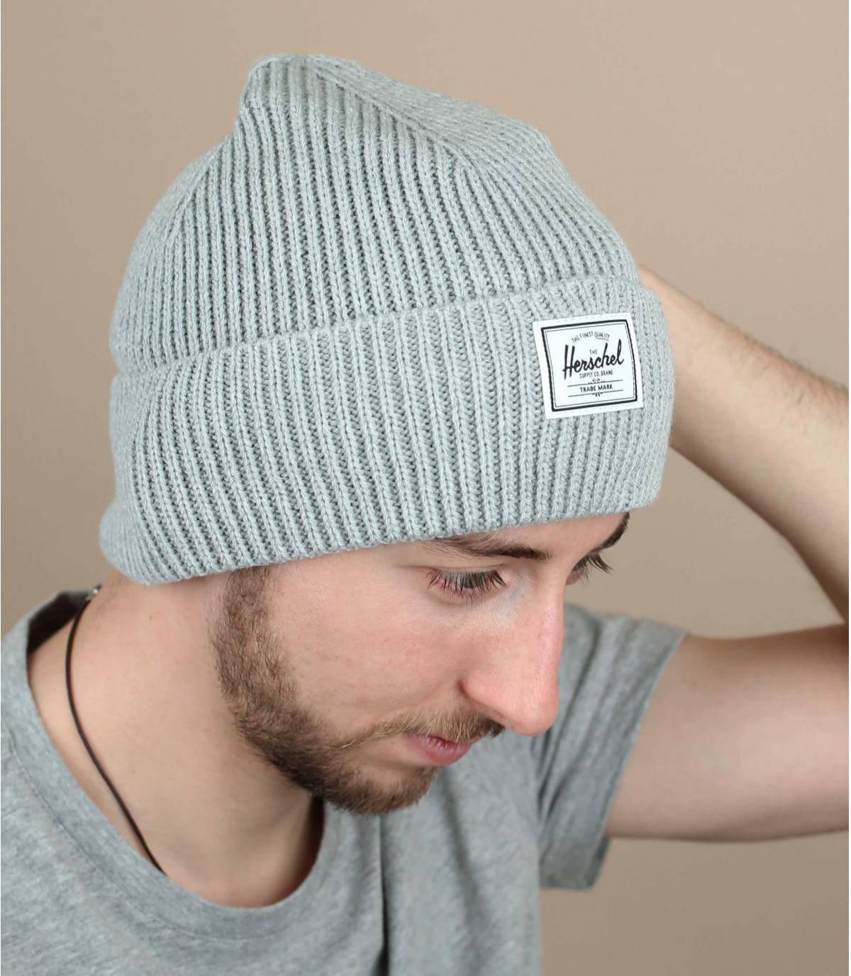 grey docker beanie