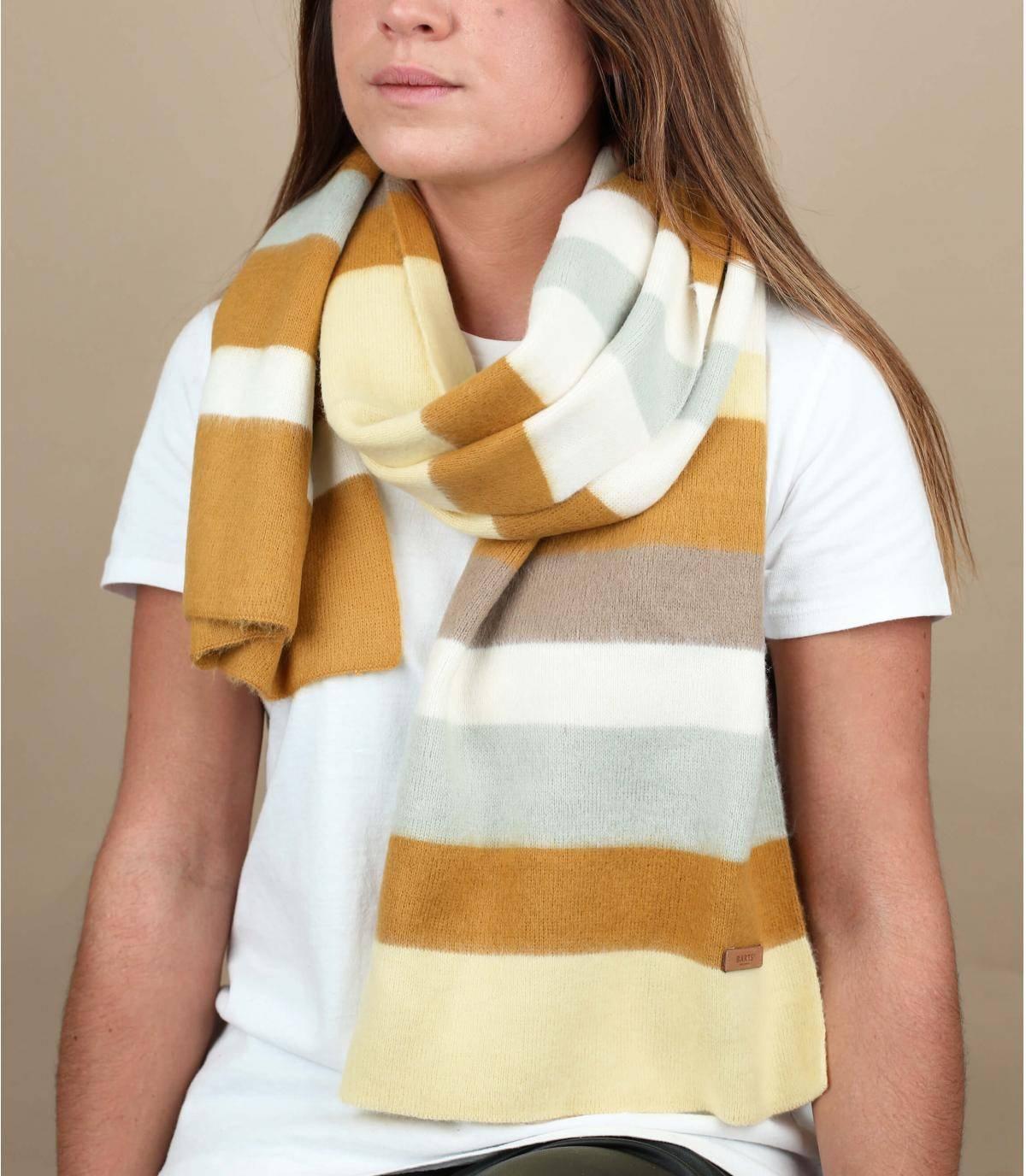Yellow striped scarf