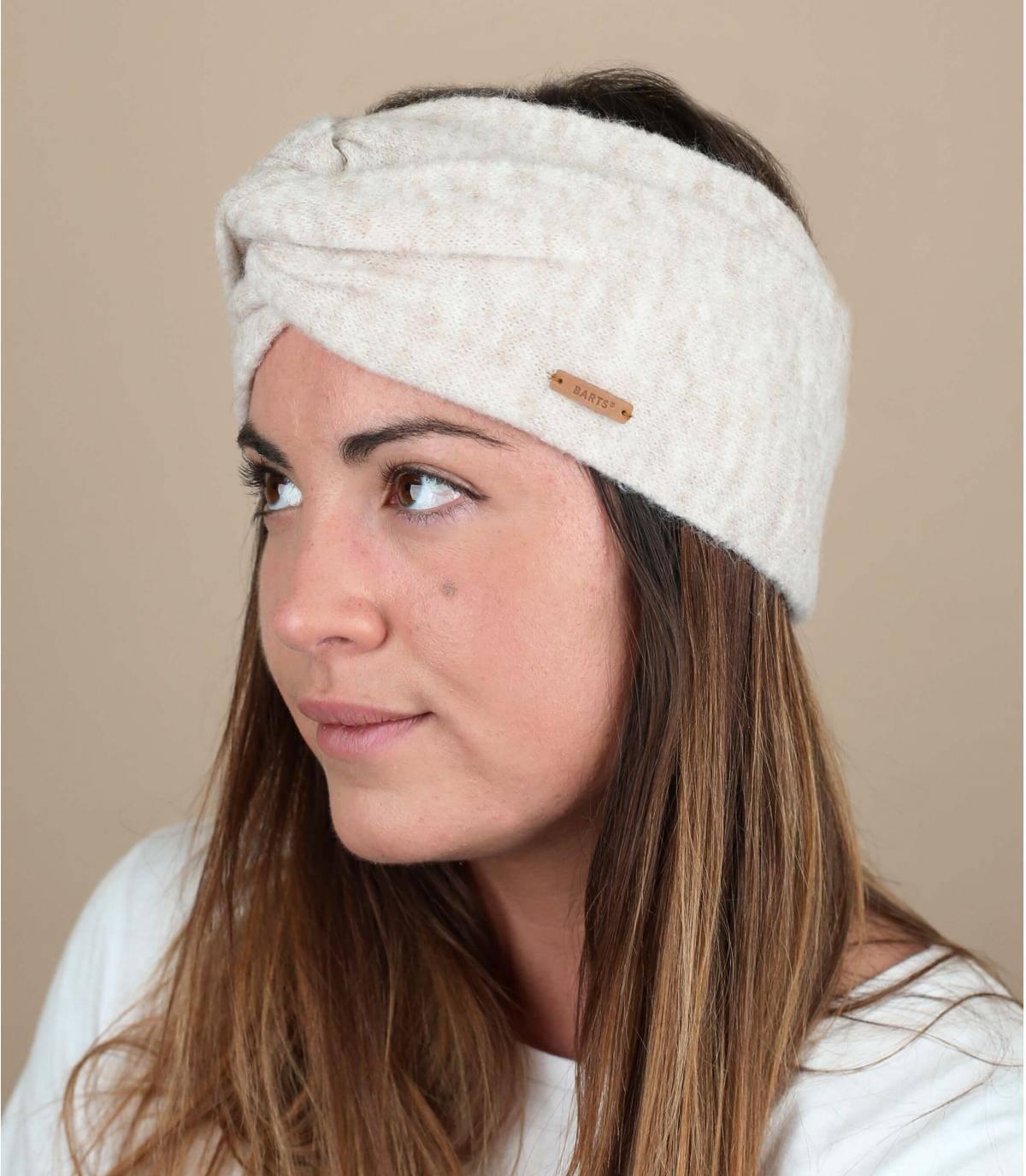 White winter headband