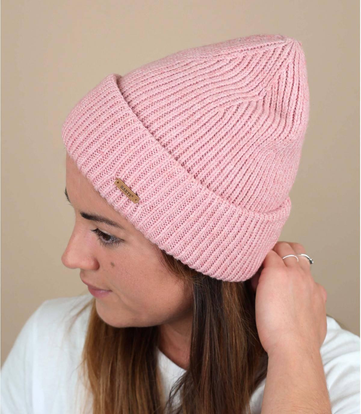 cuffed beanie pink