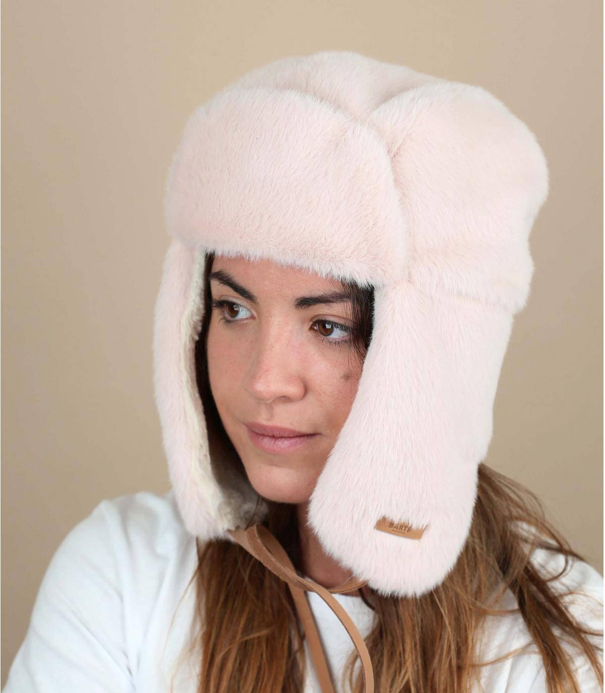 Pink trapper hat