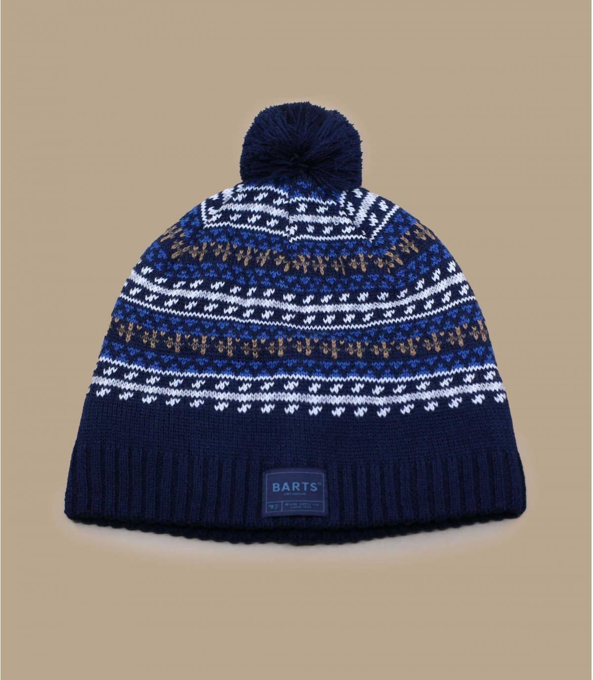 Blue beanie wool