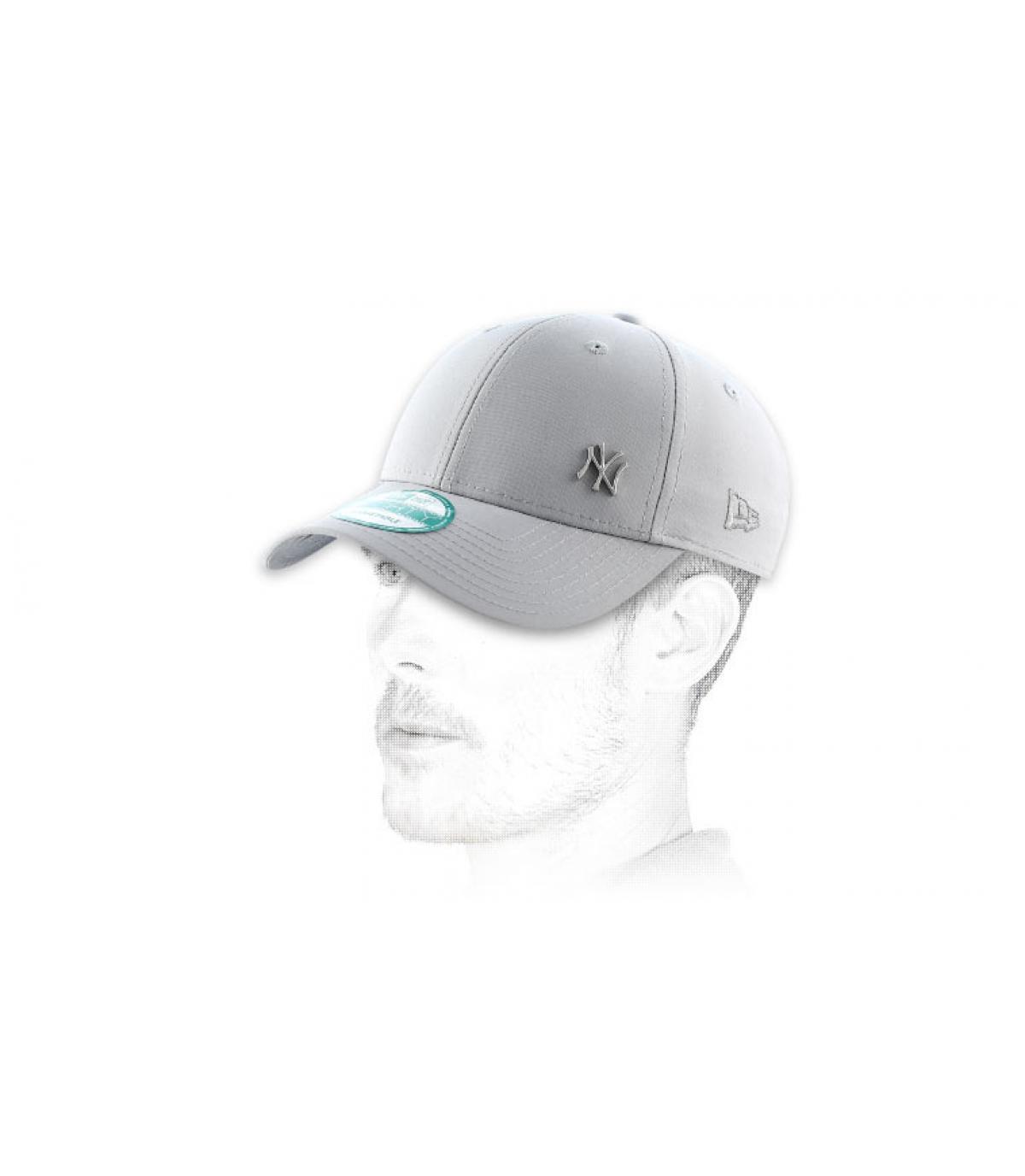 Gray New Era cap