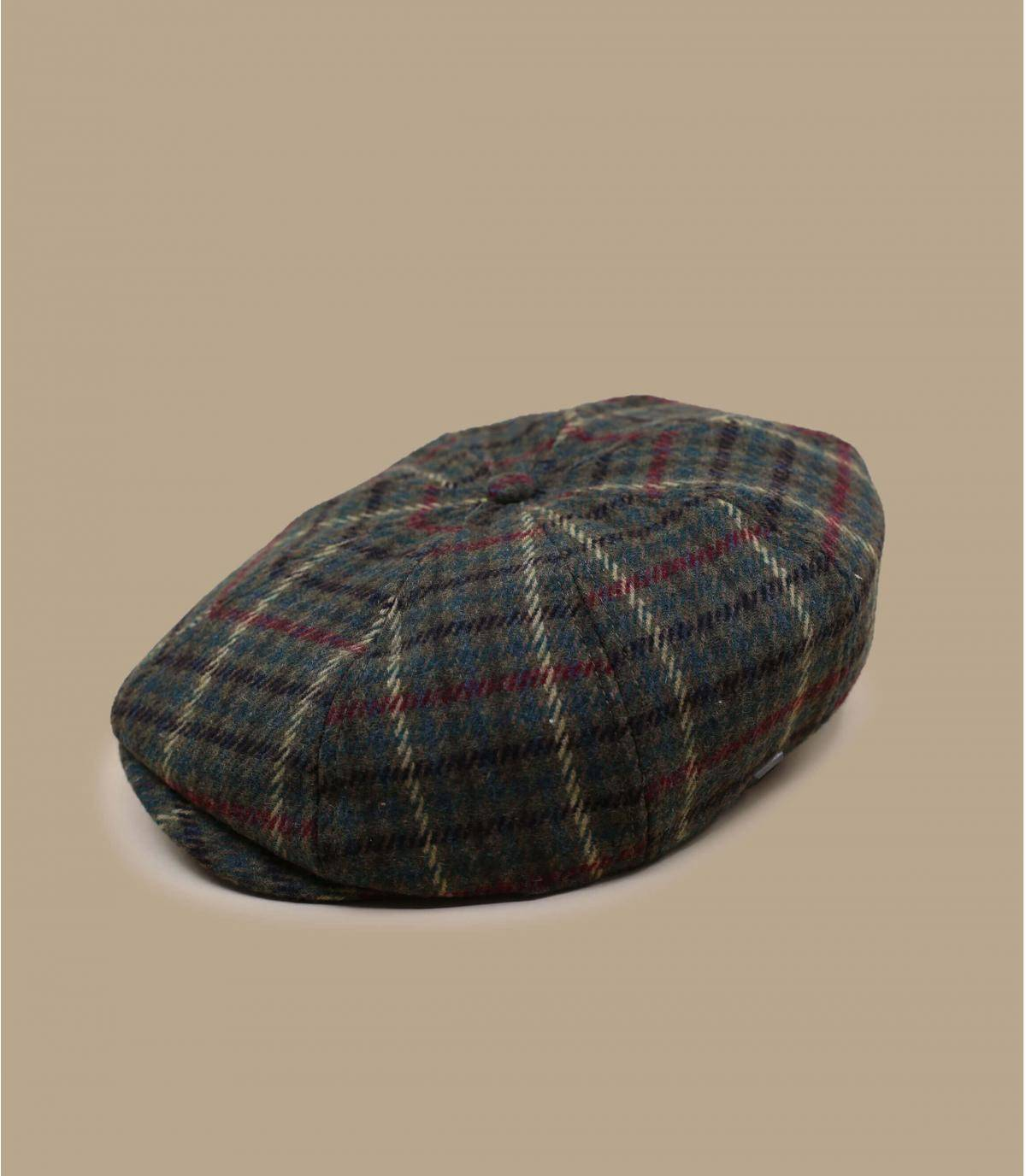 Plaid newsboy hat